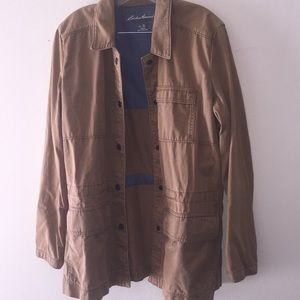 """Eddie Bauer Camel Flack """"Army"""" Jacket XL"""